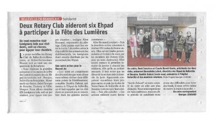 Article de presse- actions lumignons EHPAD