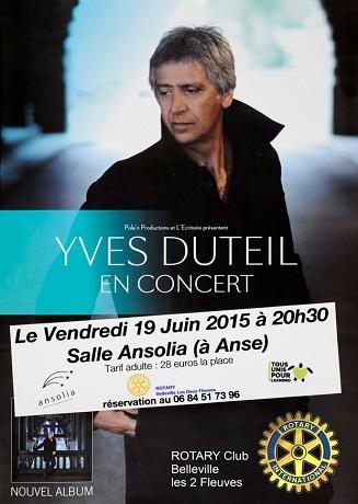 Yves DUTEIL en concert à Anse le 19 juin 2015